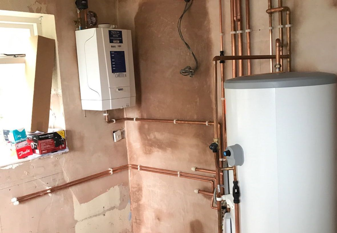 recent project for boiler repair in redditch - image shows a baxi boiler repaired